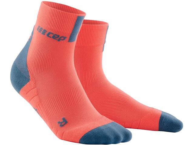 cep Short Socks 3.0 Homme, coral/grey